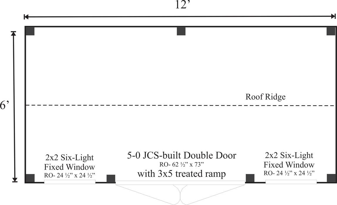 6x12 Nantucket Floor Plan