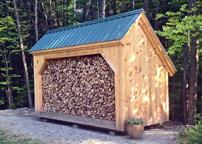 Woodbin 6x wood shed plan jamaica cottage shop for Wood storage building plans