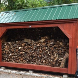 6x14 Woodbin - Four cord woodshed