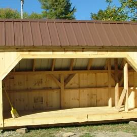 6x14 Woodbin - Tudor Brown Roof