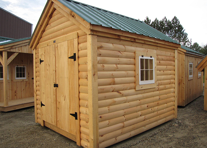 X Gable Log Cabin Siding Custom Built Garden Shed