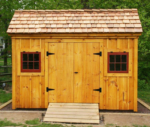 Who knew that roofing could be so cute by kim rak for Cedar shingle shed