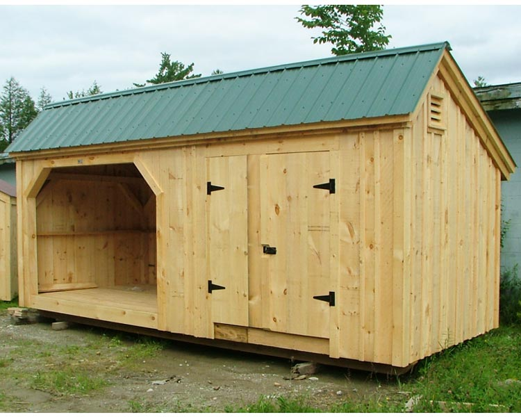 Large Shed Plans Shed With Wood Storage Wooden Storage