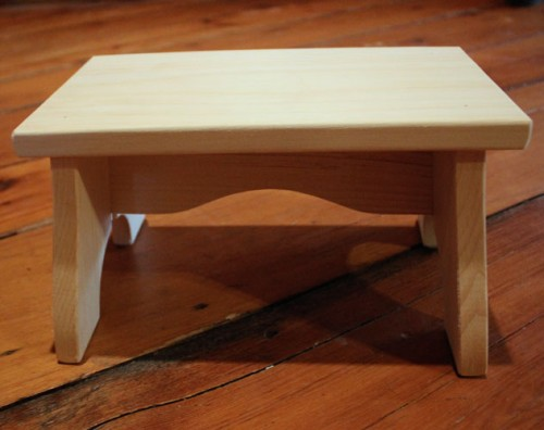 Unfinished Wood Step Stool Unfinished Stools Wooden