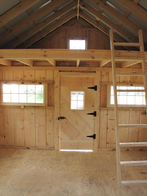 Vermont cottage option c jamaica cottage shop for Barn shed with loft plans
