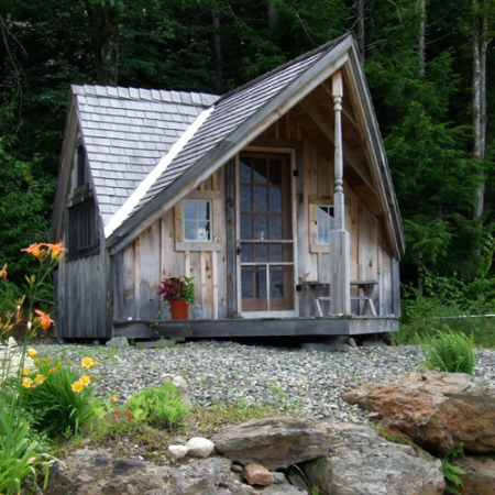 A Writers Haven featuring asphalt roofing shingles