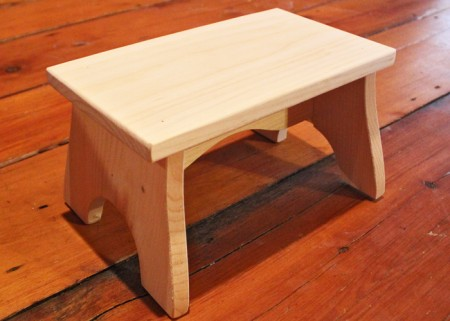 ... Pine step stool - made in the USA : unfinished wooden stools - islam-shia.org