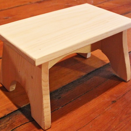Pine step stool - made in the USA