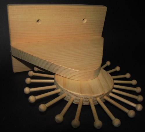 Revolving Wooden Tie Rack