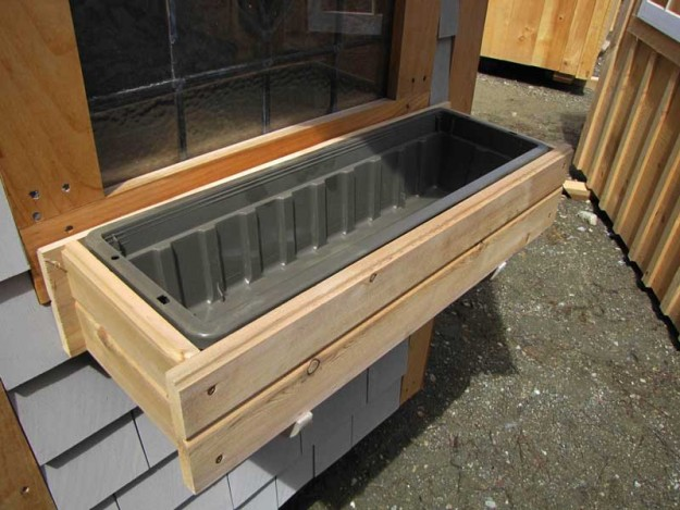 while great as a window box the wood flower box can also be used for
