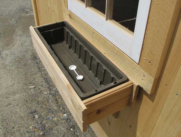 Wood Planter Box attached to Window of a Shed