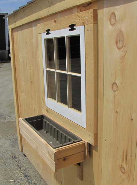 Cedar Flower Box for your Shed or Cabin