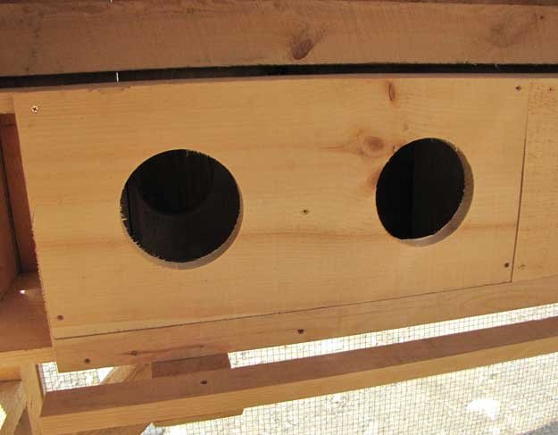 Two Nesting Boxes side by side, as viewed from the front.
