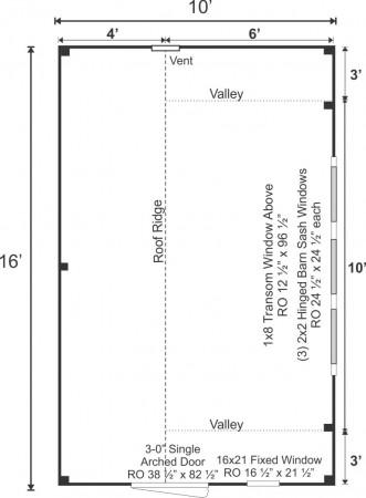 10x16 Smithaven Floor Plan