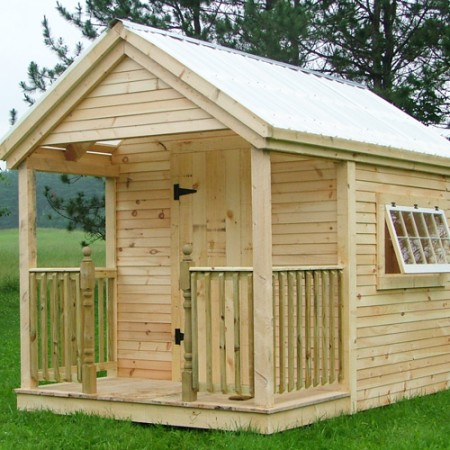 Garden potting sheds wood playhouse kit jamaica for Sheds with porches for sale