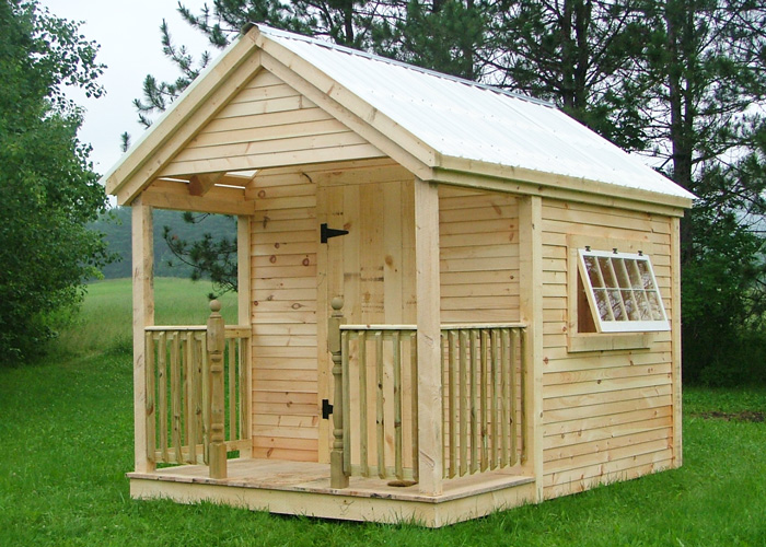 Kits plans and prefab cabins from the jamaica cottage shop for Sheds with porches for sale