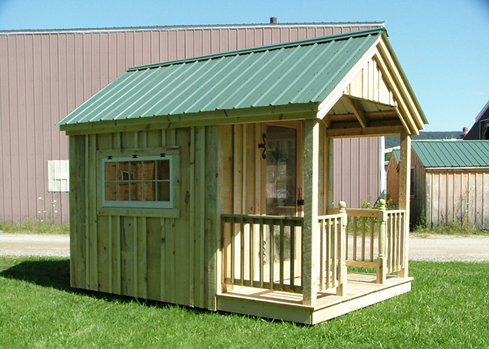 Garden potting sheds wood playhouse kit jamaica for Victorian garden shed designs