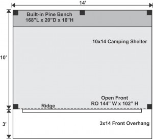 10x14 Camping Shelter