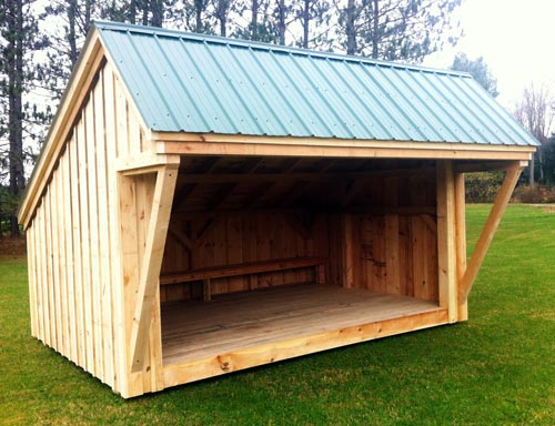 Metal Roof Shelters : Camping shelter now offered by jamaica cottage shop