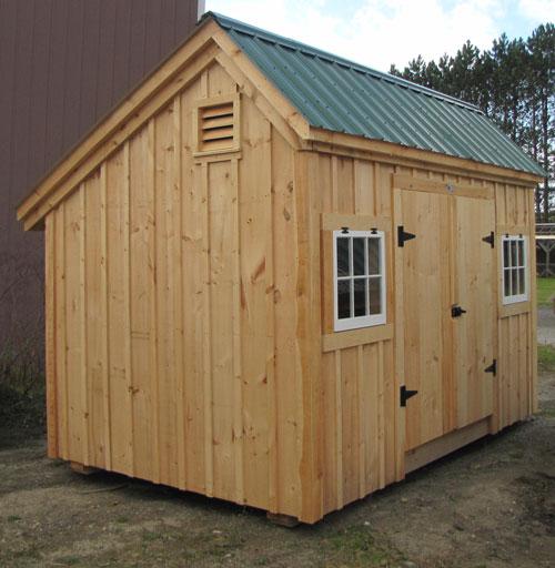 10x14 saltbox exterior