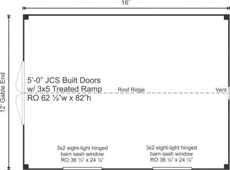 12x16 Floor Plan