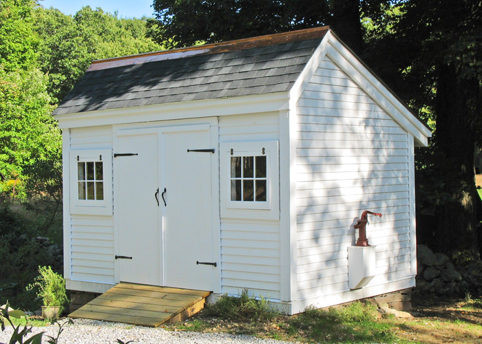 Small potting shed 12 x 8 shed cottage style sheds for Salt box sheds