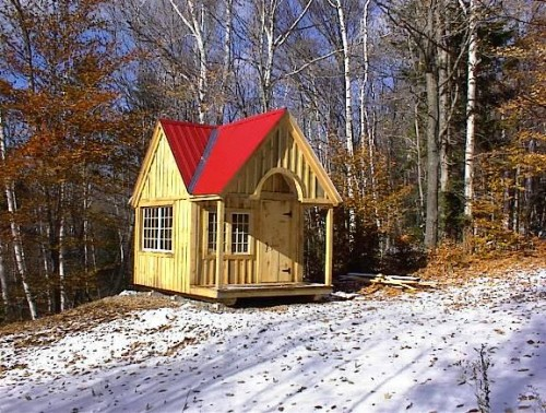 Custom Cabin - Exterior, wooden shed kits