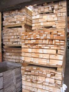 Example of un-assembled pre-cut shed kits