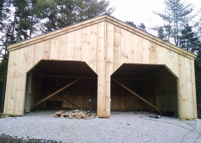 24x24 Garage Kits : Garage kit post and beam jamaica cottage shop