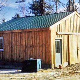 24x24 Simple Garage - Exterior
