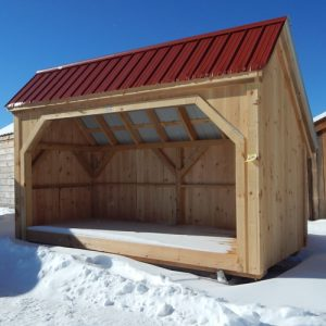 6x14 Woodbin - Autumn Red Roof