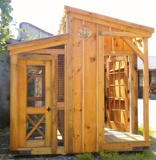 The Chicken Palace - Exterior shot, shed kits