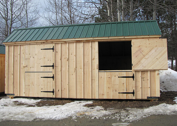Prefab horse stalls prefabricated horse barns for Two stall horse barn