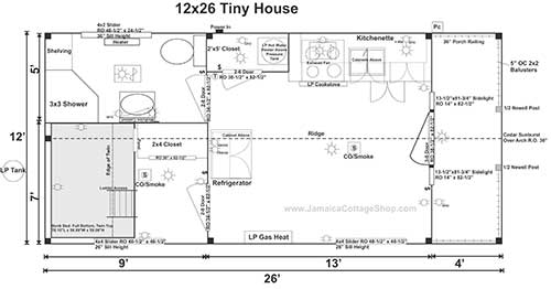 312 sq ft Tiny home floor plan