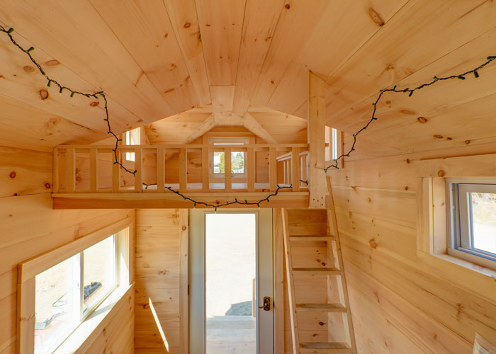 interior 8x16 custom tiny house on wheels