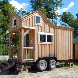 8x16 Custom Tiny House on Wheels with Cross Gable Roofline