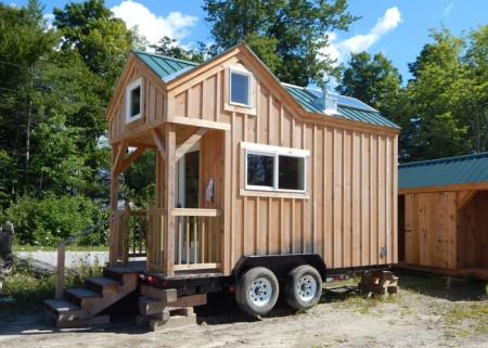 8x16 Custom Tiny House on Wheels with Cross Gable Roofline