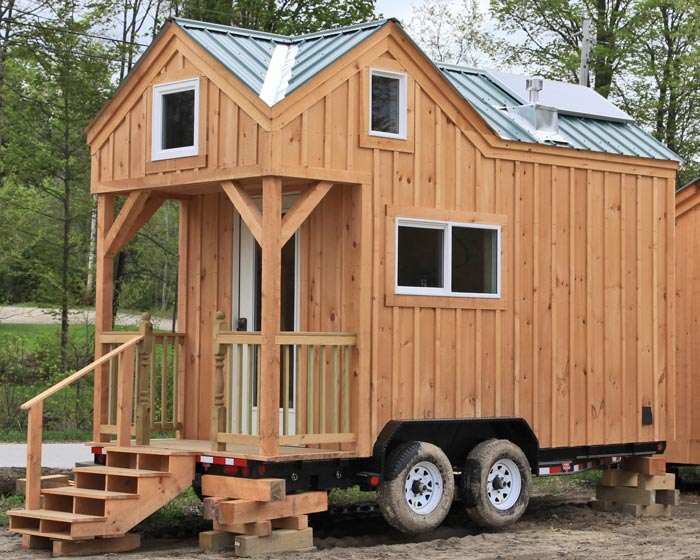 tiny house on wheels, post and beam tiny house on trailer, turnkey tiny house on wheels
