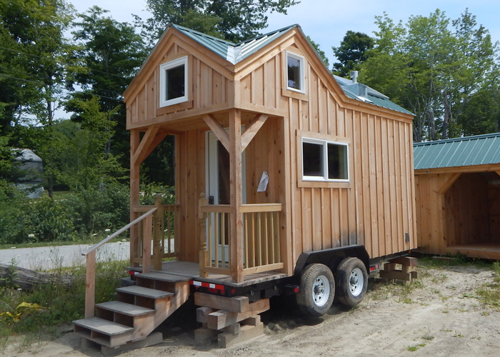 8x16 cross gable tiny house on a trailer Tiny houses on wheels for sale