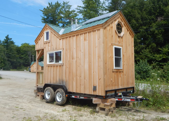 Remarkable 8X16 Cross Gable Tiny House On A Trailer Largest Home Design Picture Inspirations Pitcheantrous