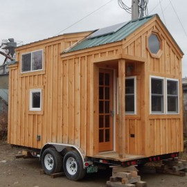 8x16 Custom Tiny House on Wheels with solar package