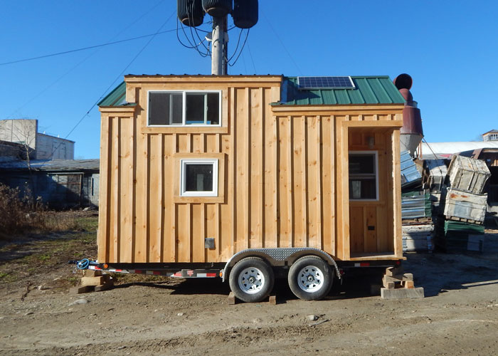 8x16 tiny house on wheels custom built to have a dormer and small porch - House On Wheels