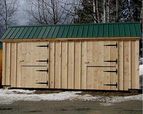 10x20 Stall barn keeps your livestock safe