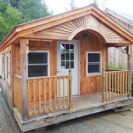 12x20 Rental Cabin - custom exterior