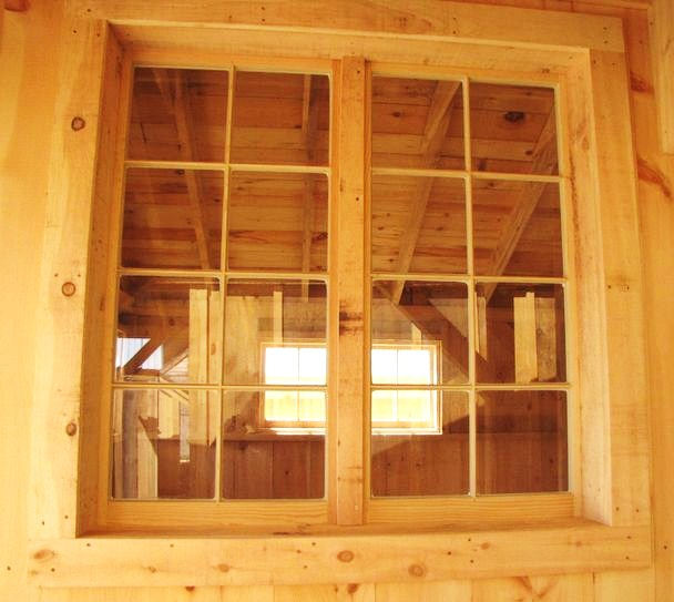 Handmade 8 pane true light horizontal barn sash windows, fixed or hinged