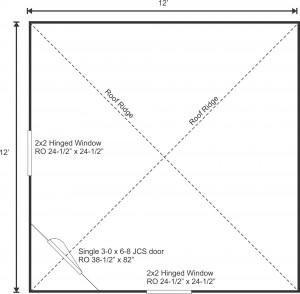 12x12 Bayside Floor plan
