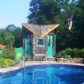 9x9-Bayside-custom-pool-house-cedar-shake-roofing-stained-glass-windows-tiny-house