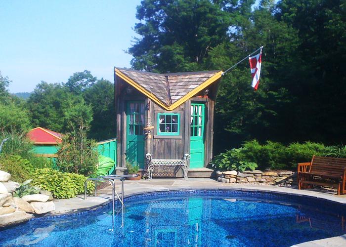 Modular pool house small modular cabins for Custom pool house