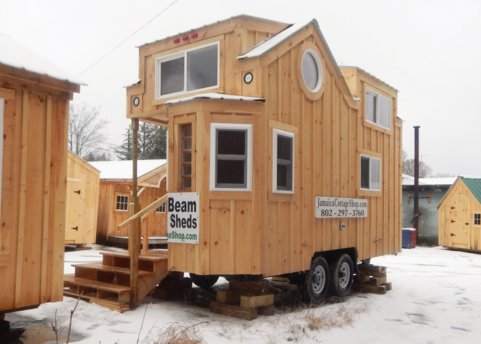 8x16 charlavail tiny house on wheels exterior overview - Mini Houses On Wheels