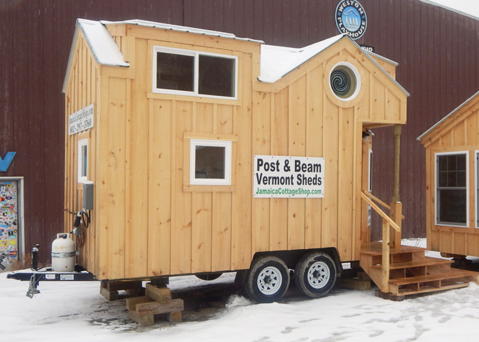8x16 charlavail tiny house on wheels exterior propane - House On Wheels